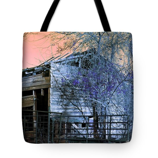 Tote Bag featuring the photograph No Ordinary Barn by Betty Northcutt