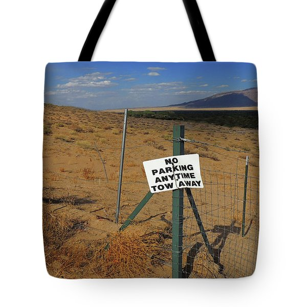 No Parking Anytime Tote Bag