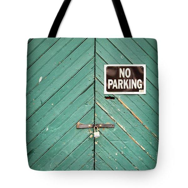 No Parking Warehouse Door Tote Bag