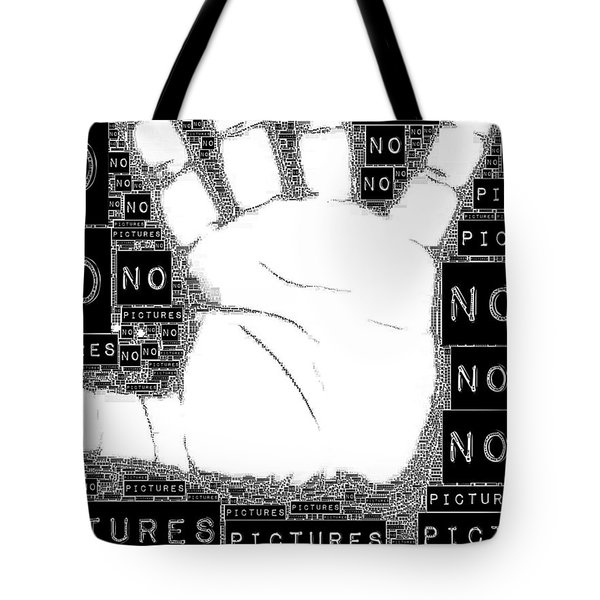 No Pictures Tote Bag