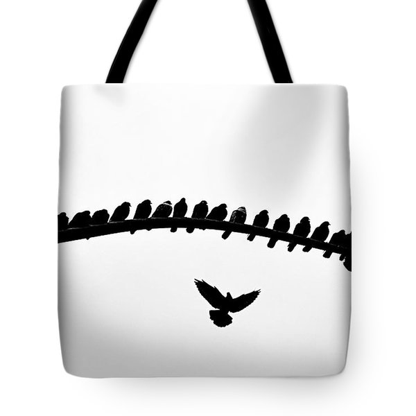 Tote Bag featuring the photograph No Place To Land by AJ Schibig