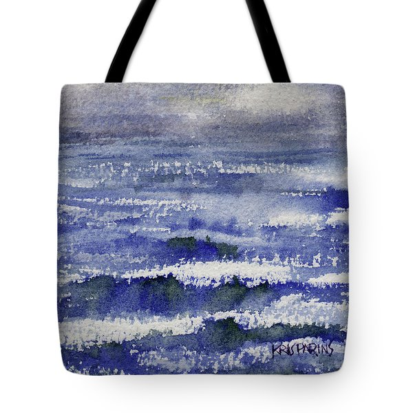 Tote Bag featuring the painting No Promises by Kris Parins