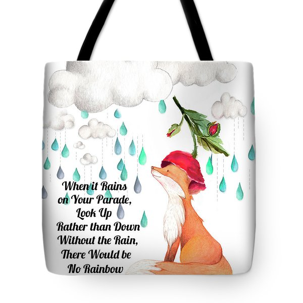 Tote Bag featuring the digital art No Rain On My Parade by Colleen Taylor