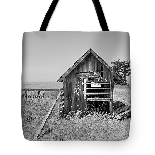 No Spring Chicken In Black And White Tote Bag