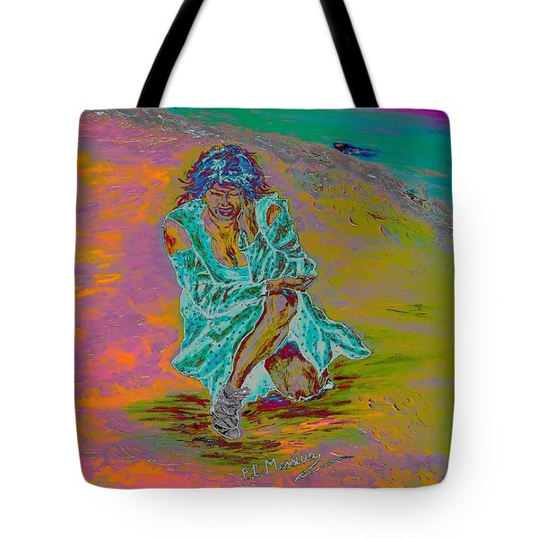Tote Bag featuring the painting No Surrender by Loredana Messina