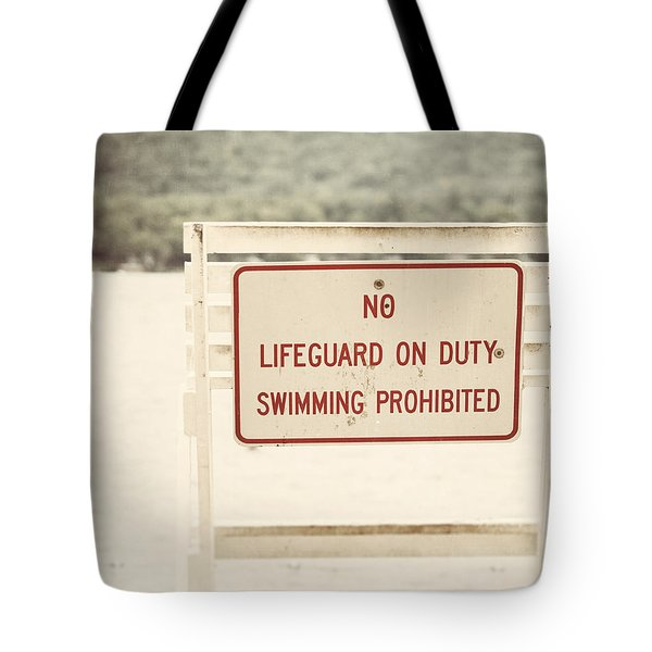 No Swimming Tote Bag by Lisa Russo