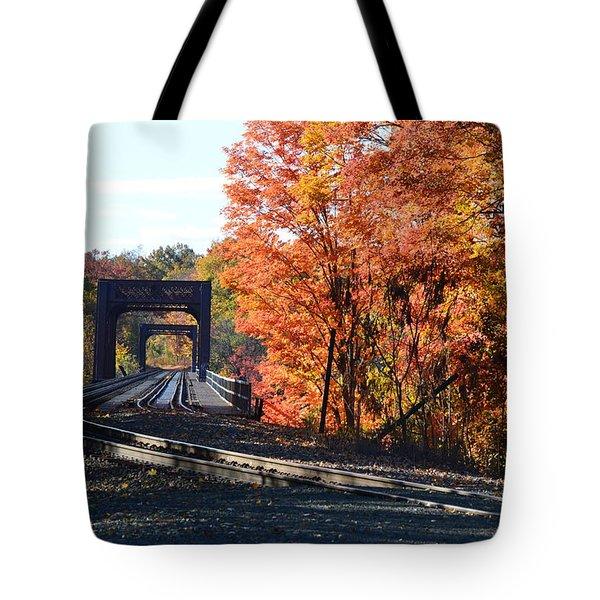 No Train Coming Tote Bag