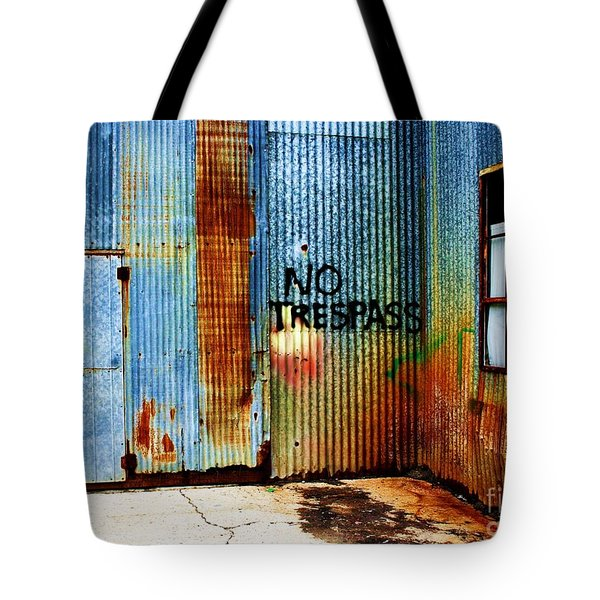 No Trespass Tote Bag by Ronnie Glover
