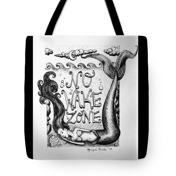 No Wake Zone, Mermaid Tote Bag