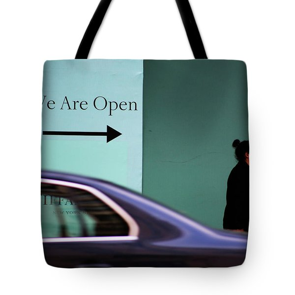 No We Are Closed  Tote Bag by Empty Wall