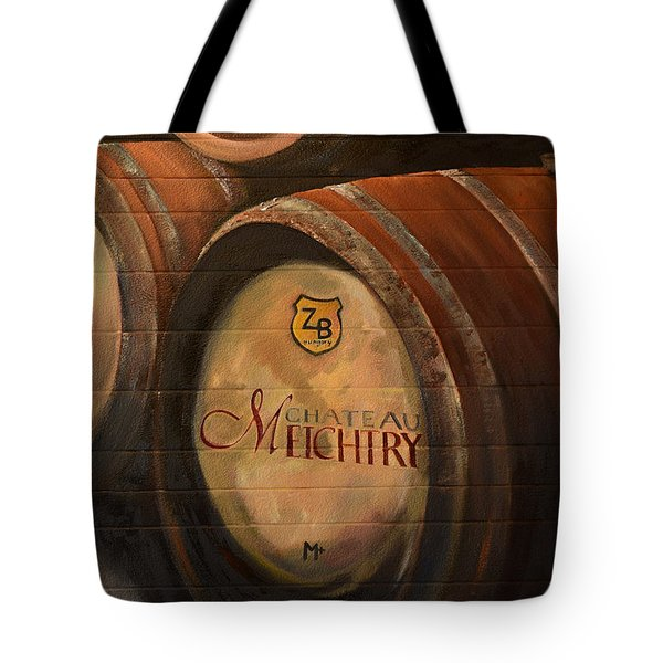 No Wine Before It's Time - Barrels-chateau Meichtry Tote Bag by Jan Dappen