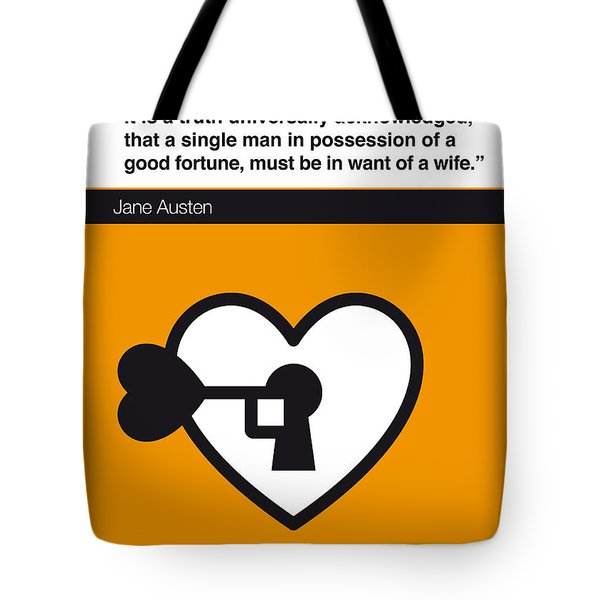 No002 My Pride And Prejudice Book Icon Poster Tote Bag by Chungkong Art