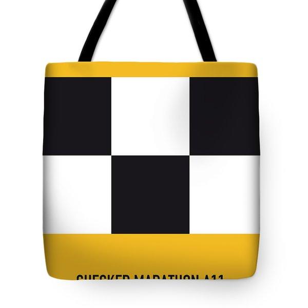 No002 My Taxi Driver Minimal Movie Car Poster Tote Bag