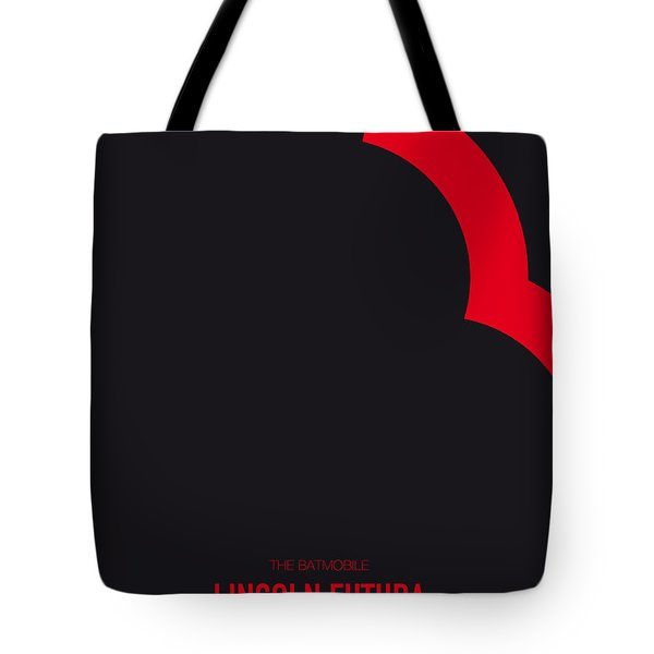 No006 My Batmobile Minimal Movie Car Poster Tote Bag