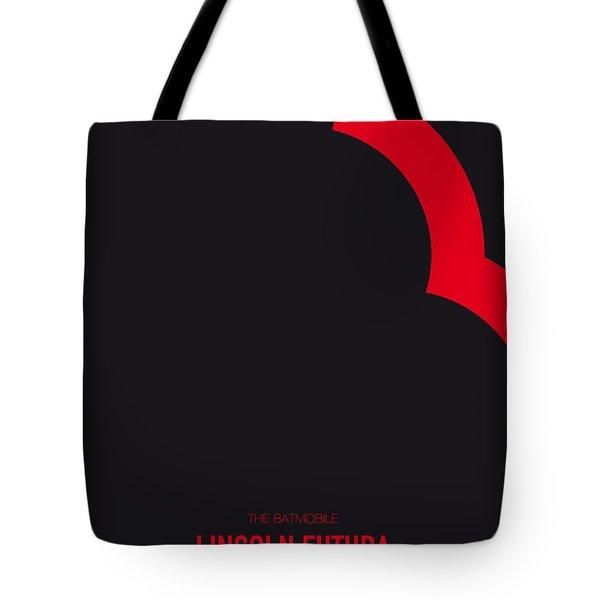 No006 My Batmobile Minimal Movie Car Poster Tote Bag
