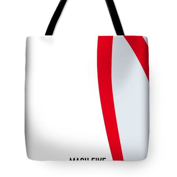 No008 My Speed Racer Minimal Movie Car Poster Tote Bag