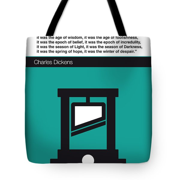 No009 My Tale Of Two Cities Book Icon Poster Tote Bag by Chungkong Art