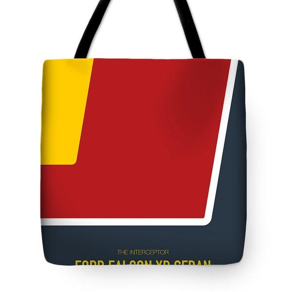 No011 My Mad Max Minimal Movie Car Poster Tote Bag