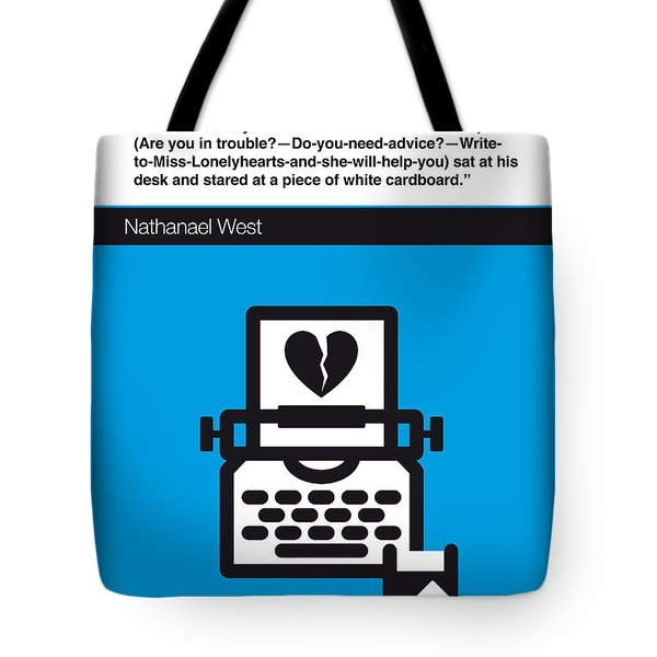 No011-my-miss Lonelyhearts-book-icon-poster Tote Bag by Chungkong Art