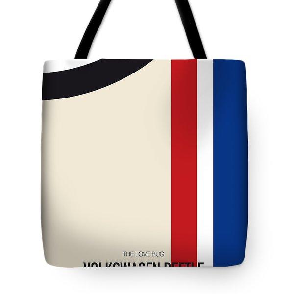 No014 My Herbie Minimal Movie Car Poster Tote Bag