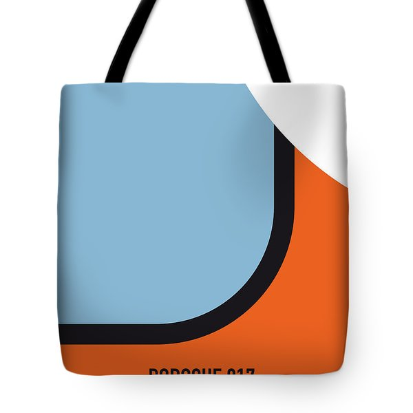 No016 My Le Mans Minimal Movie Car Poster Tote Bag by Chungkong Art