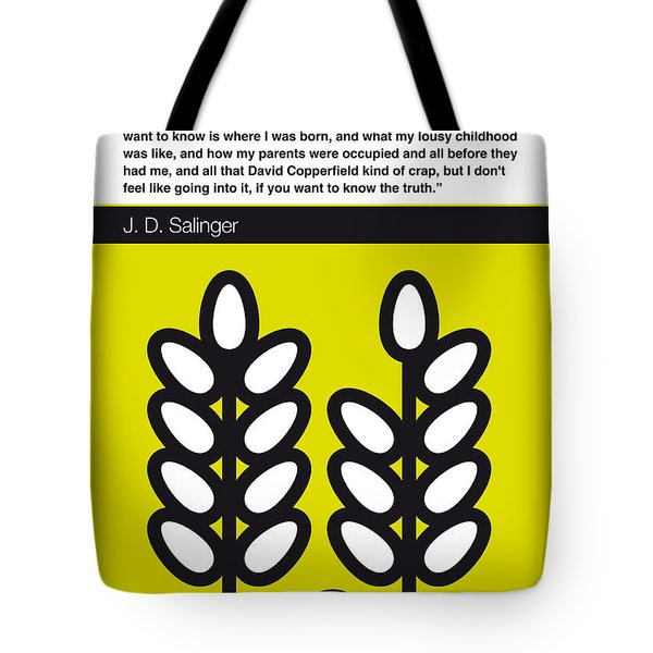 No016-my-the Catcher In The Rye-book-icon-poster Tote Bag by Chungkong Art