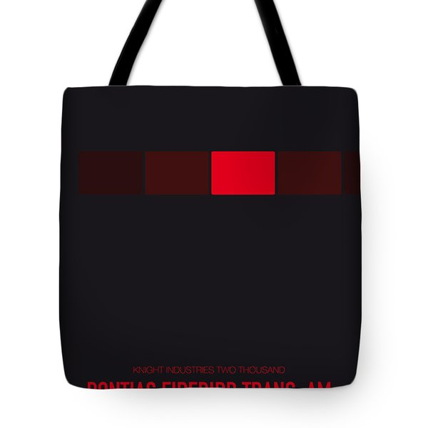 No019 My Knight Rider Minimal Movie Car Poster Tote Bag by Chungkong Art