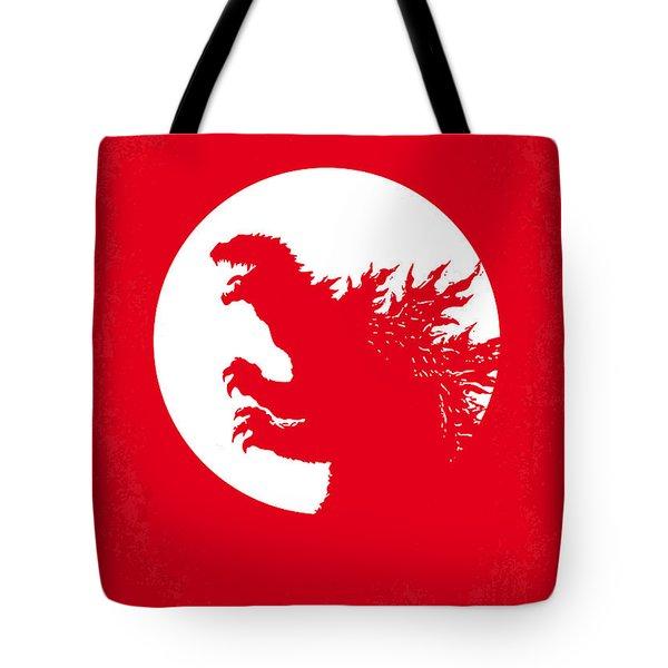 No029-1 My Godzilla 1954 Minimal Movie Poster Tote Bag by Chungkong Art