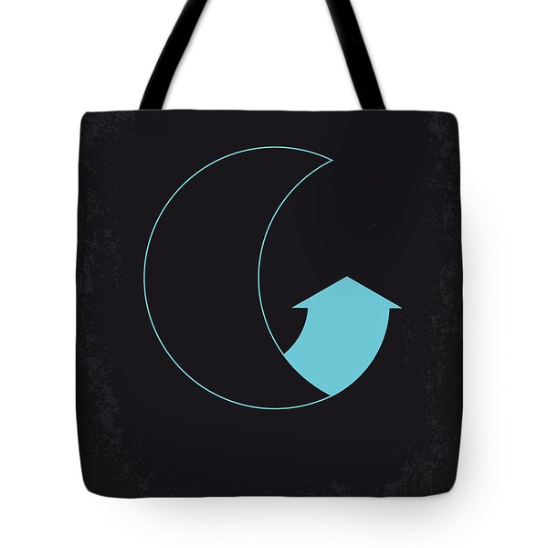 No053 My Moon 2009 Minimal Movie Poster Tote Bag