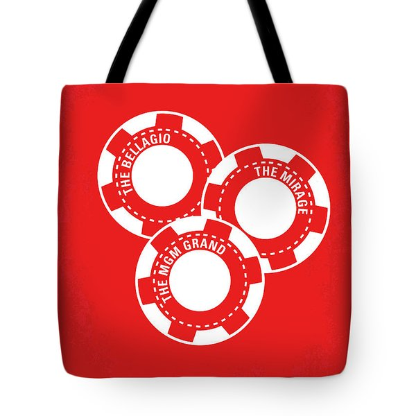 No056 My Oceans 11 Minimal Movie Poster Tote Bag