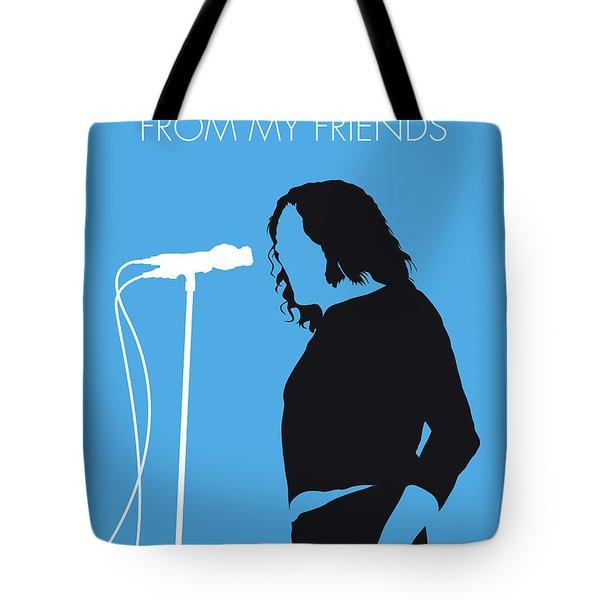 No069 My Joe Cocker Minimal Music Poster Tote Bag