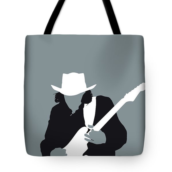No087 My Stevie Ray Vaughan Minimal Music Poster Tote Bag