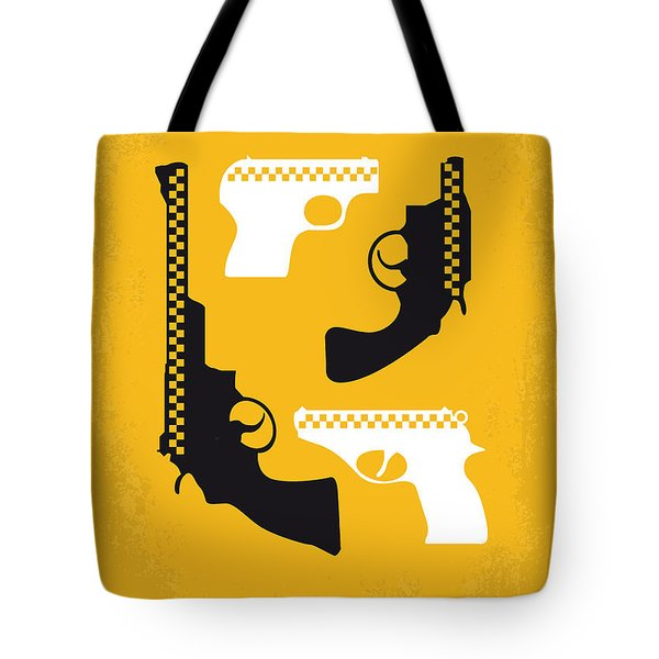 No087 My Taxi Driver Minimal Movie Poster Tote Bag