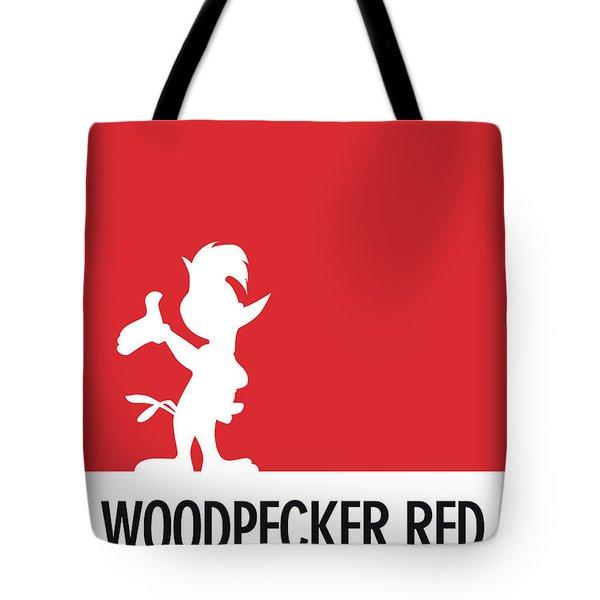 No12 My Minimal Color Code Poster Woody Woodpecker Tote Bag