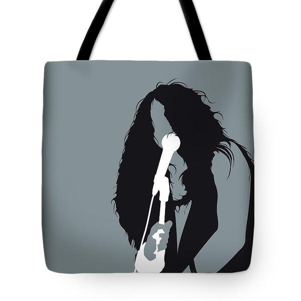 No127 My Janis Joplin Minimal Music Poster Tote Bag