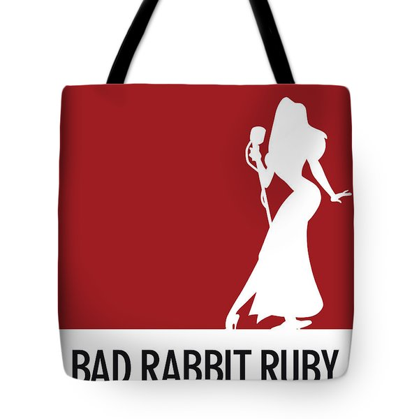 No14 My Minimal Color Code Poster Jessica Rabbit Tote Bag