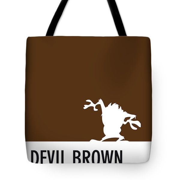No16 My Minimal Color Code Poster Tasmanian Devil Tote Bag