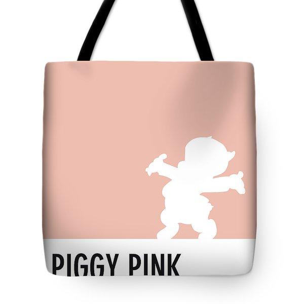No17 My Minimal Color Code Poster Porky Pig Tote Bag