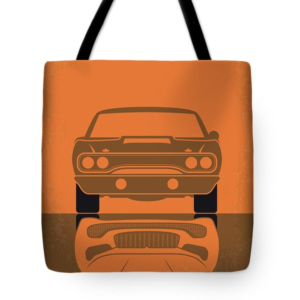 No207-7 My Furious 7 Minimal Movie Poster Tote Bag