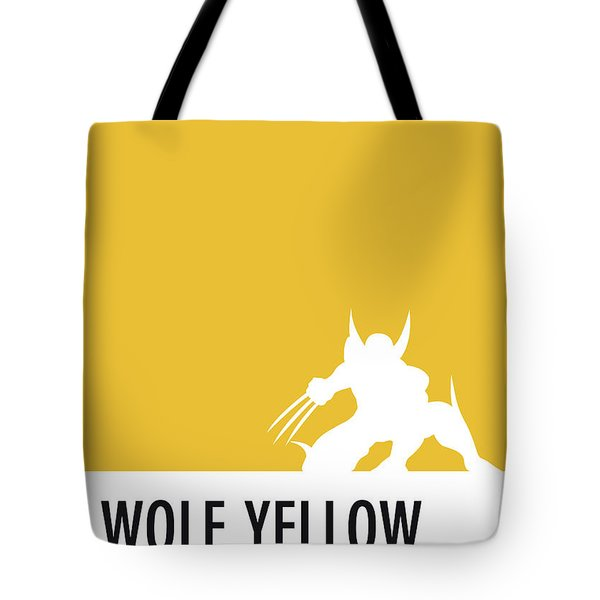 No21 My Minimal Color Code Poster Wolverine Tote Bag