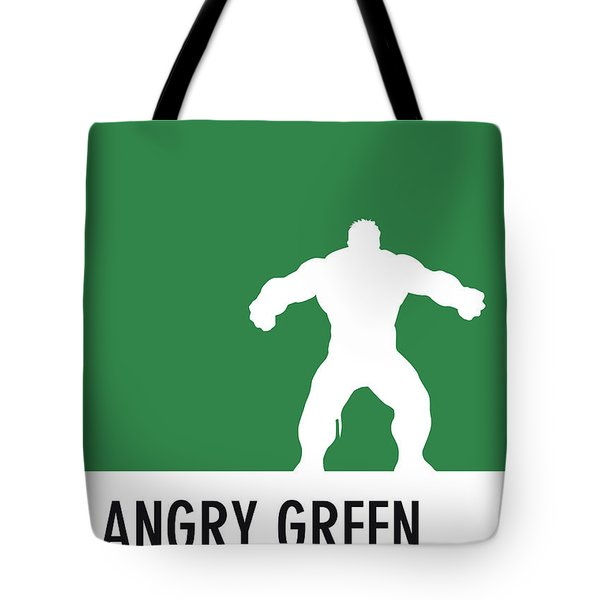 No22 My Minimal Color Code Poster Hulk Tote Bag