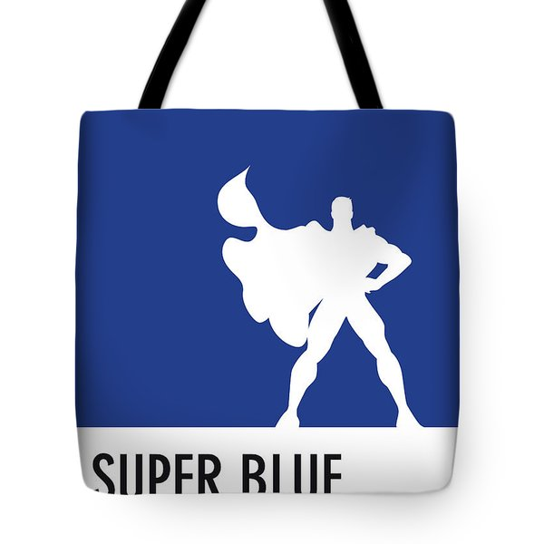 No23 My Minimal Color Code Poster Superman Tote Bag