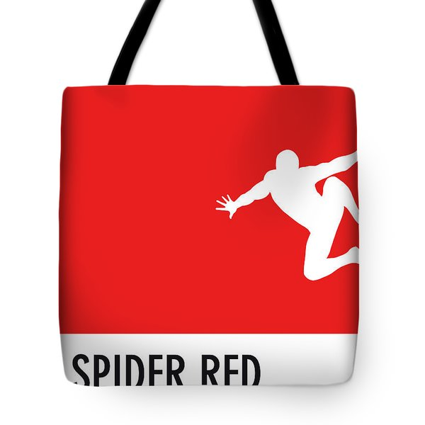 No24 My Minimal Color Code Poster Spiderman Tote Bag