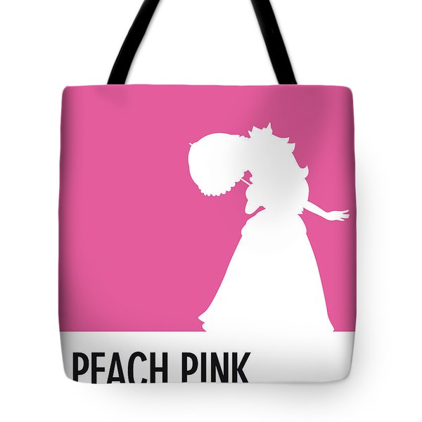 No44 My Minimal Color Code Poster Peach Tote Bag