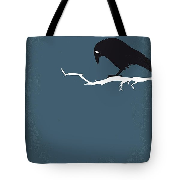 No488 My The Crow Minimal Movie Poster Tote Bag