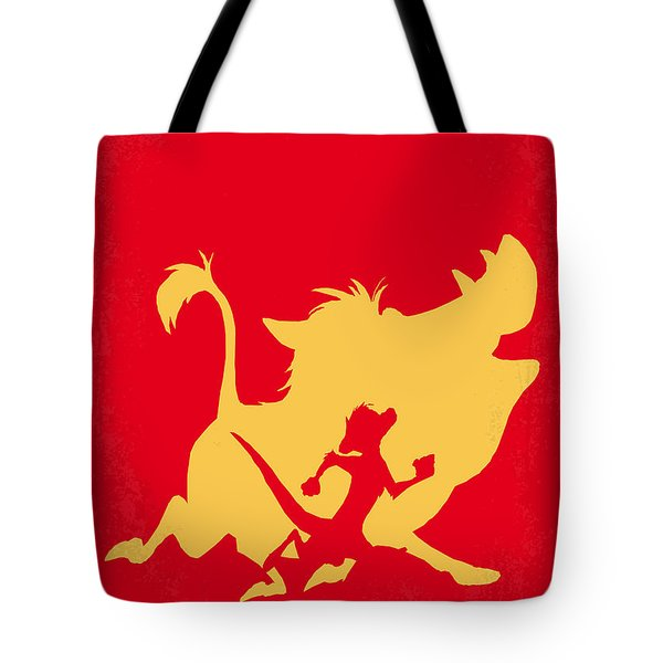 No512 My The Lion King Minimal Movie Poster Tote Bag by Chungkong Art