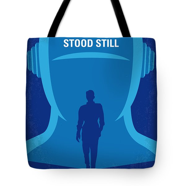 No514 My The Day The Earth Stood Still Minimal Movie Poster Tote Bag