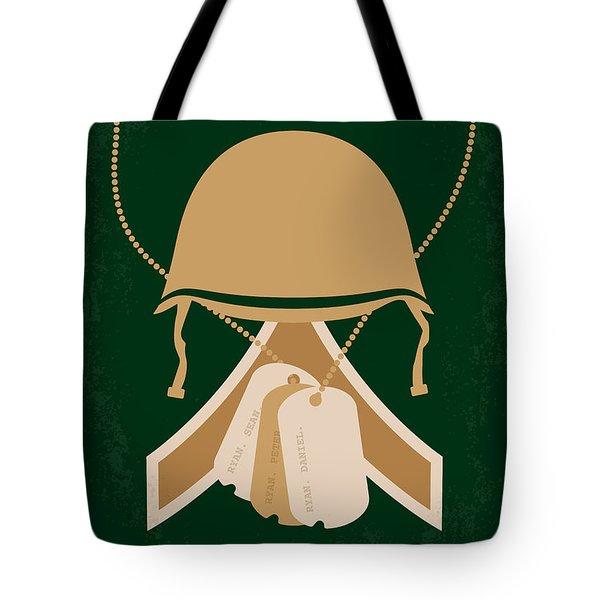 No520 My Saving Private Ryan Minimal Movie Poster Tote Bag