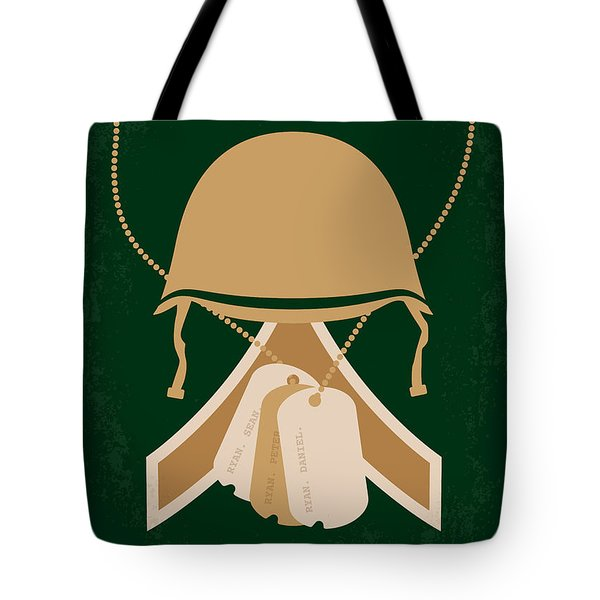 No520 My Saving Private Ryan Minimal Movie Poster Tote Bag