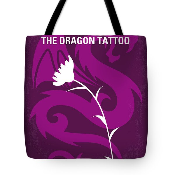 No528 My The Girl With The Dragon Tattoo Minimal Movie Poster Tote Bag